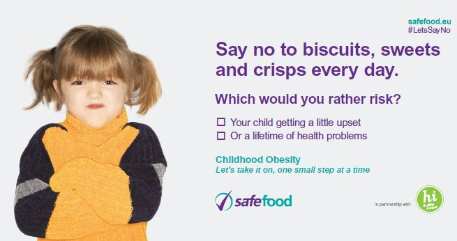 #LetsSayNo to sweets, biscuits and crisps everyday