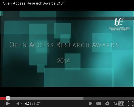Open Access Research Awards Video